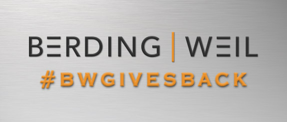 Berding & Weil hastag BWGivesBack - Join us in giving back!